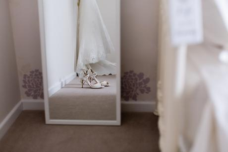 Bell Hall Wedding Photography bride prep shoes