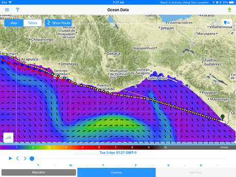 PredictWind view of Tehuantepec