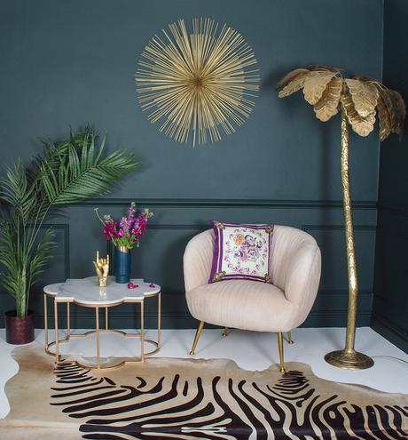 Audenza moody and eclectic living room
