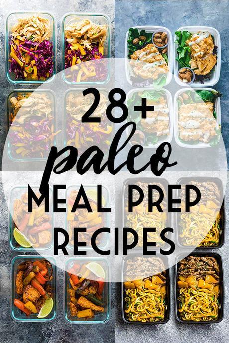 Paleo Meal Prep Recipe Ideas collage photo