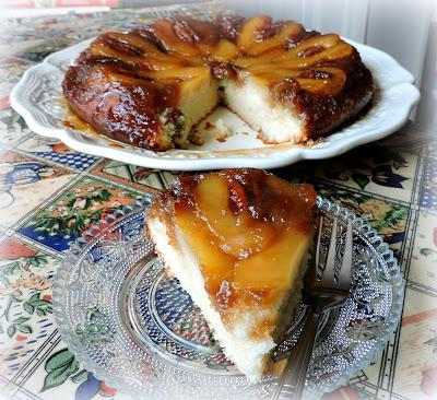 Pear & Maple Upside-down Cake