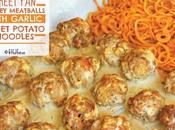 Sheet Turkey Meatballs with Garlic Sweet Potato Noodles (paleo)