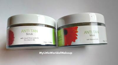 Organic Harvest Anti Tan Scrub & Mask Review