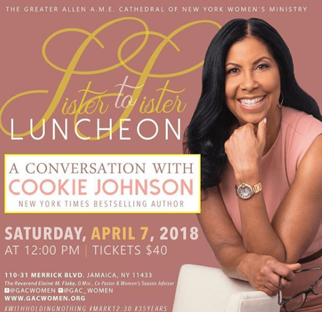 Cookie Johnson Speaker at Greater Allen Cathedral Sister To Sister Luncheon