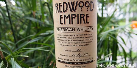 Redwood Empire American Whiskey Label