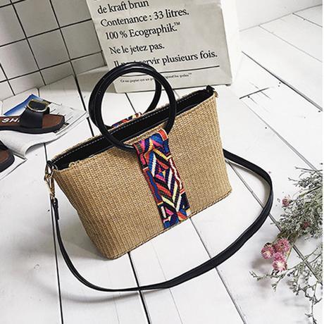 largestraw beach bag