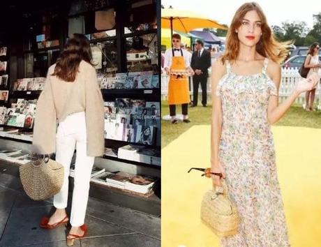 the fashion straw beach bags