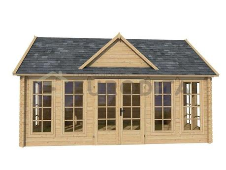New garden ornament – awesome log cabins