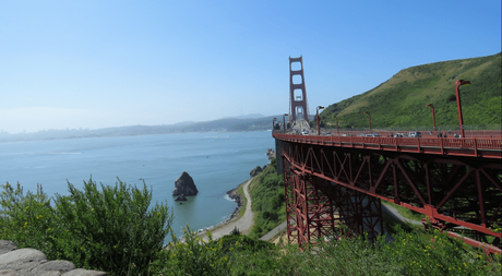 A view of the iconic Golden gate bridge