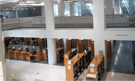 Interiors of SFO's Public Library