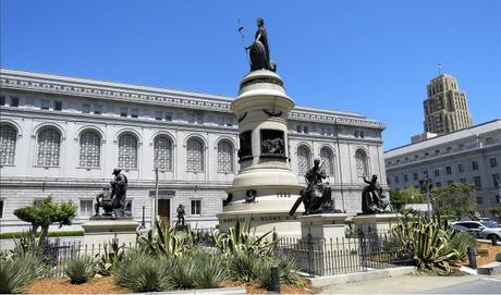 Statues at SFO's Civic Centre