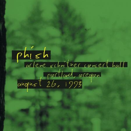 Phish: new archival release 08/26/1993 Arlene Schnitzer Concert Hall, Portland, OR