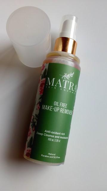 Matra Naturals Skin Gourmet Oil Free Makeup Remover Review