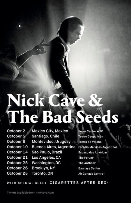Nick Cave & The Bad Seed: Fall tour dates