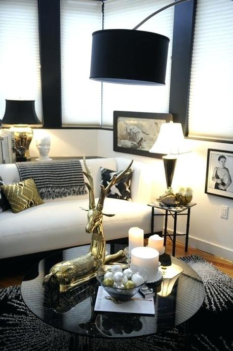 Black White Grey And Gold Living Room Paperblog
