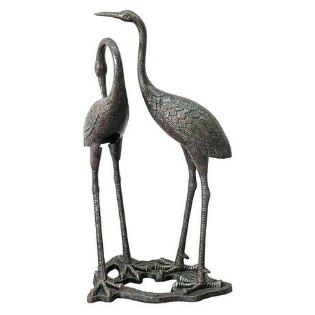 crane statues garden sculptures stue home design furniture