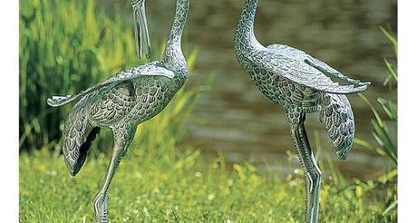 crane statues garden sculptures home design furniture