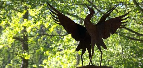 crane statues garden sculptures home design ideas for small spaces