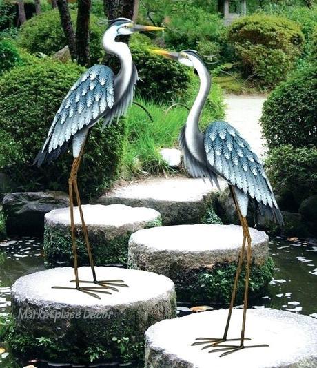crane statues garden sculptures home design furniture syncb