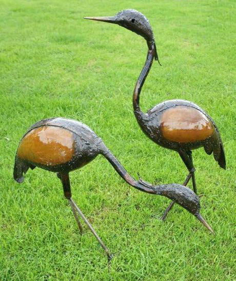 crane statues garden sculptures grden sculpturesgrden sttuesmetl home design furniture the villages fl