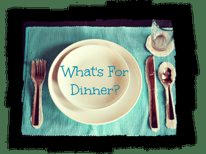 What's for Dinner? – Week Starting 7 April 2018