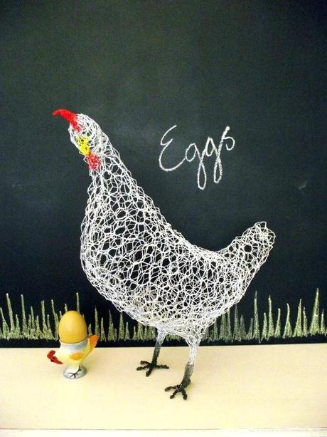 chicken sculptures for garden chicken wire garden sculptures