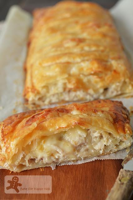 chicken mushroom leek cheese jalousie