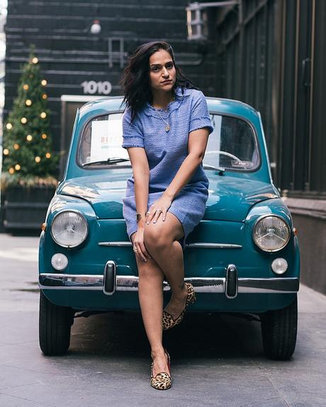 Sail To Sable Tweed Dress Tanvii.com