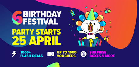 Lazada Celebrate Its Sixth Birthday Sale With Mega Sale Offers!