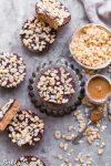These No-Bake Crispy Chocolate Almond Butter Cups are rich, decadent, and so delicious, with a crispy almond butter layer topped with dark chocolate. The crisp comes from crispy brown rice cereal! You'd never guess these almond butter cups were gluten-free, refined sugar-free, and vegan.
