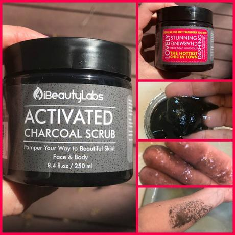 charcoal, face and body scrub, organic skin care