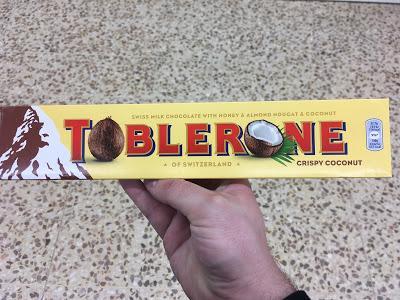 Today's Review: Toblerone Crispy Coconut