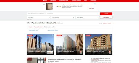 The accommodation and Jobs in Sharjah