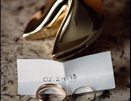 wedding save the dates rings beautiful idea