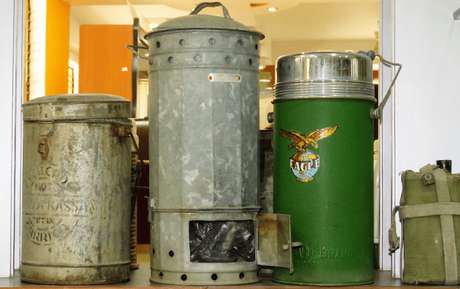 Yesteryear tiffin carriers at the Manjushree Heritage Museum of Packaging & Design