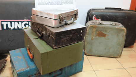 Evolution of suitcases at the Manjushree Heritage Museum of Packaging & Design
