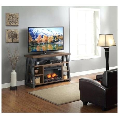 whalen media fireplace console rustic brown console whalen fireplace media console dark rustic brown