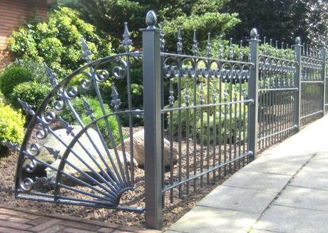 metal garden fencing art s metal garden fence panels ireland