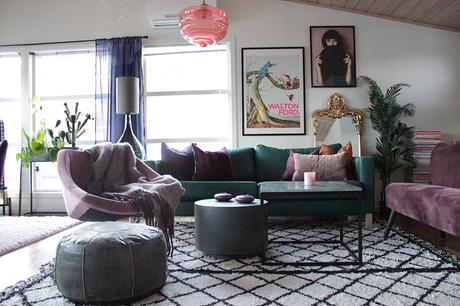 House Tour: Colourful apartment- vibrant and eclectic living room