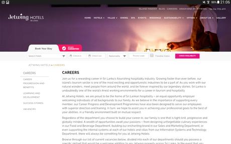 Hotel Jobs in Sri Lanka