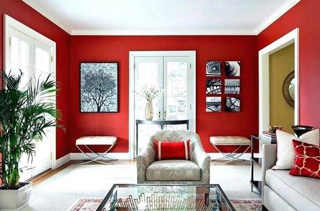 Grey Red Living Room - Paperblog