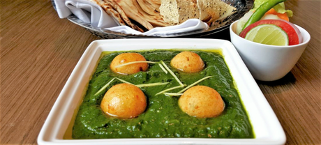 Palak chaman kofta at WelcomCafe Jacaranda