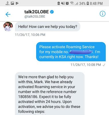 How to activate roaming service when you're already outside the country?