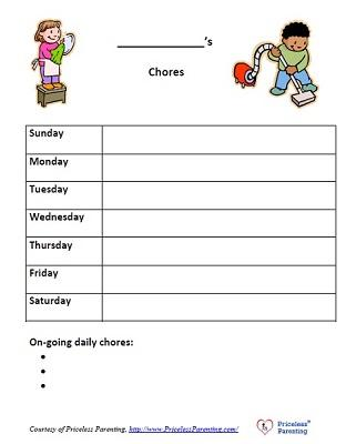 Chores - Every Family Member's Responsibility