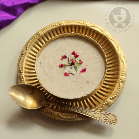 Try out this delicious Gulkand Oats Payasam, filled with lovely flavors of dry fruits and rose petals. Serve warm or chilled - it tastes great either way!