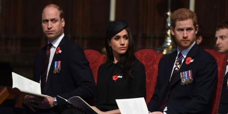 Meghan Markle Joined William & Harry For Service At Westminster Abbey