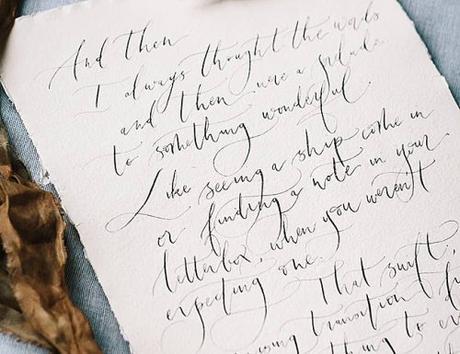 wedding poems beautiful caligraphy