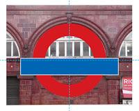 My idea for how Edward Johnston came up with the design for the London Underground Roundel