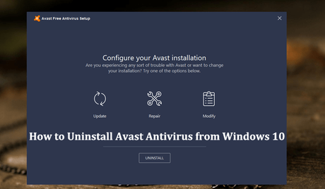 computer wont let me uninstall avast