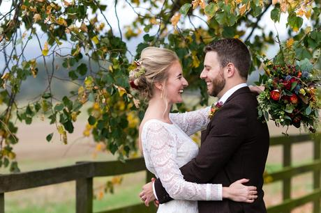 Barmbyfield Barn Wedding Photography autumnal wedding with changing colours
